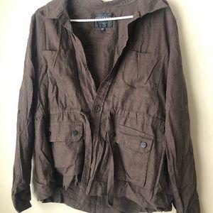 Deep olive/brown  cloth blazer